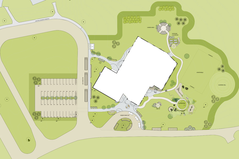saddle-lake-school-landscape-design